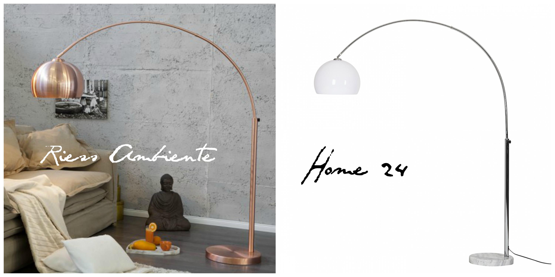 Shop this: Die schönsten Bogenlampen in Kupfer und Chrom