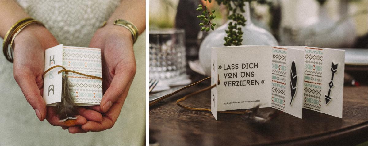 Für ein Hochzeits-Styleshooting im lässigen Bohemian Look hat Christiane das Gastgeschenk entwickelt. Ein hübsch verpacktes Einmaltattoo, das die Gäste direkt in Sommerlaune versetzt. Komplettes Styleshooting: http://www.hochzeitswahn.de/…/hippie-zeltplatz-hochzeitsin…/ Fotos: Alea Horst