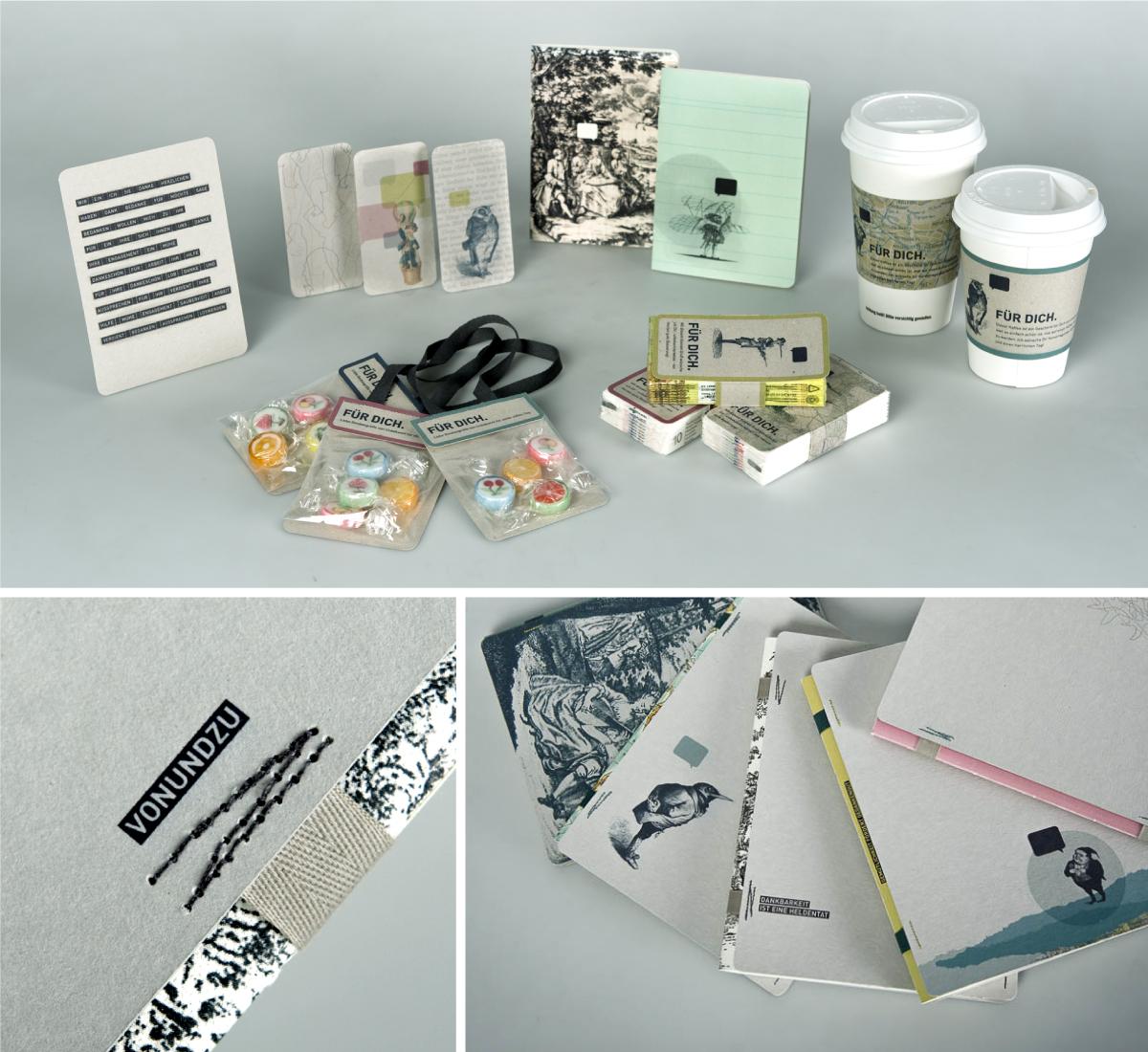 """»VONUNDZU« ist eine Papeteriekollektion, die die Menschen mit ihren Produkten für ein Stück """"bessere Welt"""" begeistern will. Mit netten Kleinigkeiten und einfachen Aktionen kann man Fröhlichkeit verschenken."""