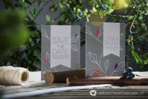 Bei der Hochzeitspapeterie »Naturliebe« hat Christiane sich von grafischen Formen aus der Natur inspirieren lassen und eine Kollektion kreiert, mit der man seine Liebe zur Natur teilen kann.