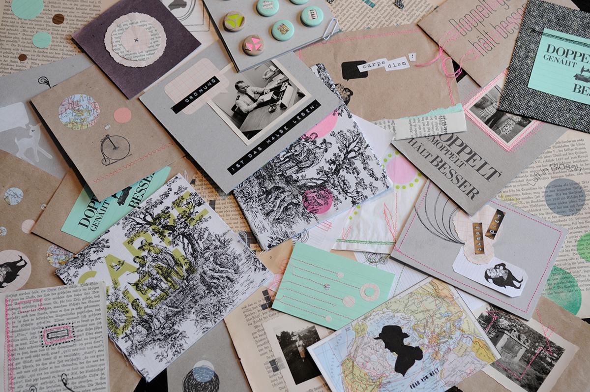 Christiane mag es zu experimentieren. Dabei entstehen zum Beispiel freie Illustrationen.