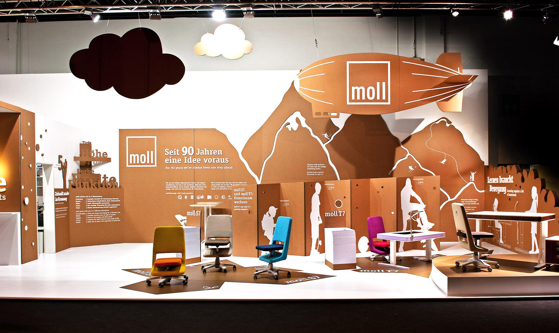 Wow, wie schön: So sah der Moll-Stand auf der vergangenen imm Cologne aus. Foto: moll