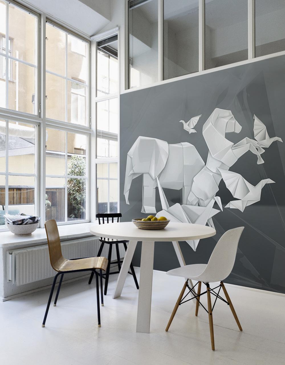Wände aufpeppen mit Fototapeten und Wandstickern