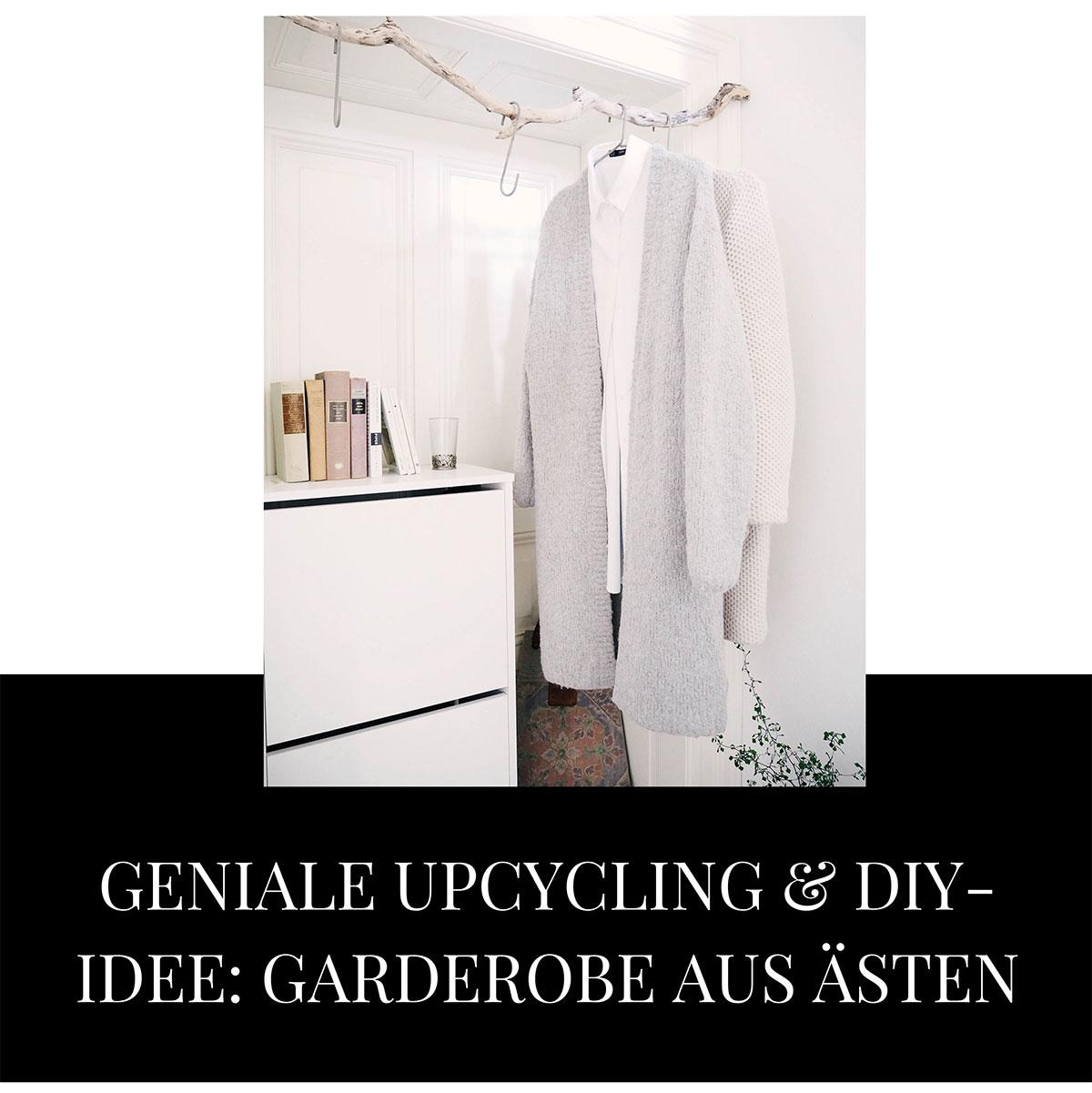 DIY Garderobe aus Ästen Lieblings Blog Wiesbaden