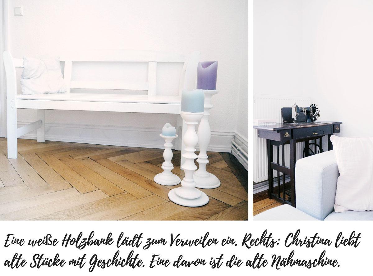 Lieblings-Blog-Wiesbaden-Homestory-Esszimmer-Bank-alte-Nähmaschine