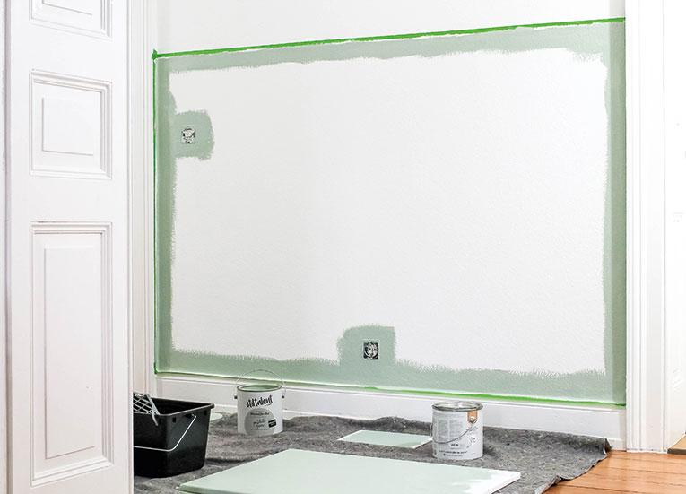 Stiltalent toom Portobello Green Lieblings Blog Halfpainted Wall Wand halbhoch streichen