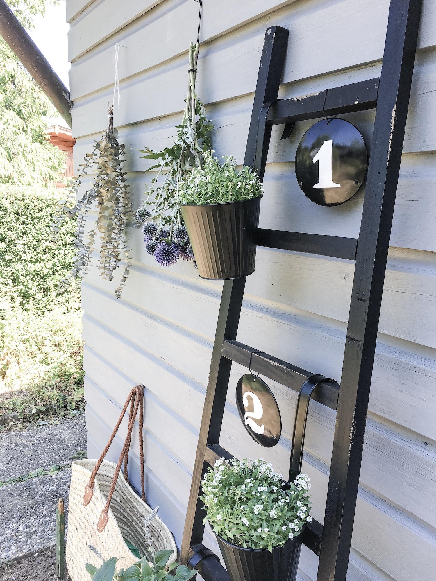 Lieblings Blog Ramsign Emaille Schilder Wandleiter dekorierten